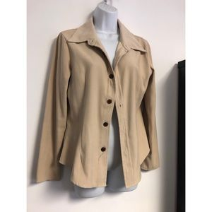 Faux Suede Collared Jacket S